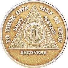 AA sobriety medallion