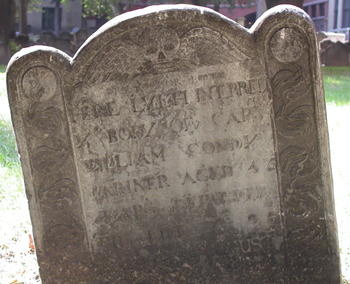 Boston headstone