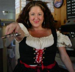 Miss aRRRRR attired for Talk Like A Pirate Day