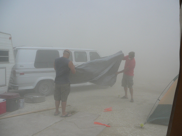 an average playa dust storm