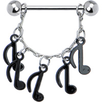 musical dangling nipple ring