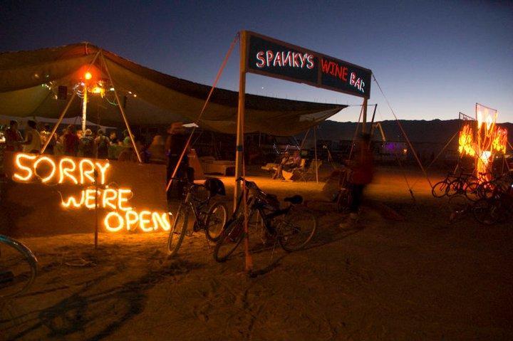 Spanky's Wine Bar at Burning Man