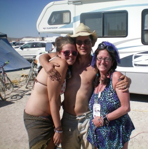 Taylor (a playa virgin this year!), DocMoc and Yours Truly