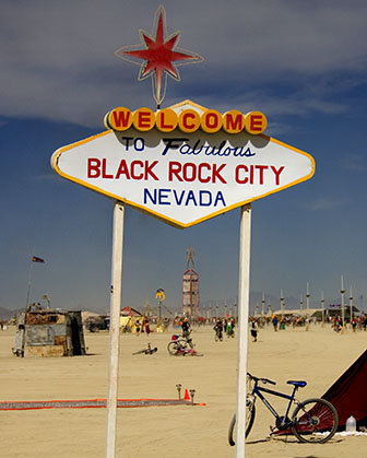 black rock city sign